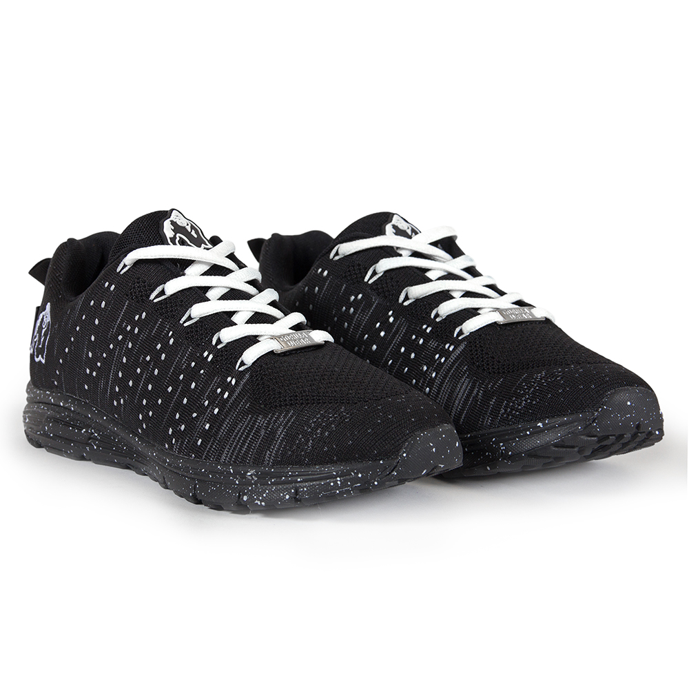Gorilla Wear Brooklyn Knitted Sneakers (unisex) - Black/White - 41