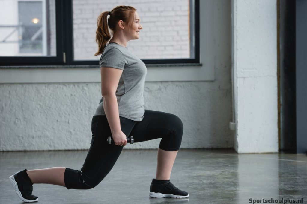 Lunge forward vrouw
