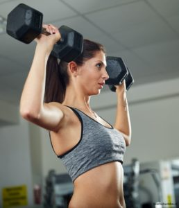 standing dumbell press workout