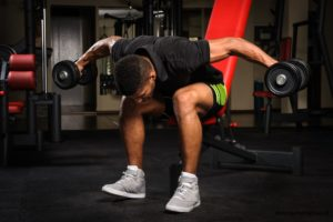 Seated dumbbell side rise