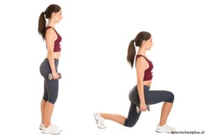 walking lunges dumbell